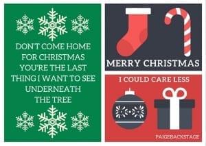 Fall Out Boy Pop Punk Christmas Cards // PaigeBackstage.com