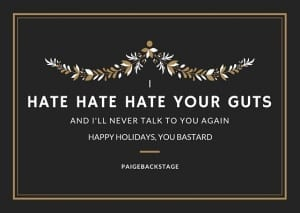 Blink-182 Pop Punk Christmas Cards // PaigeBackstage.com