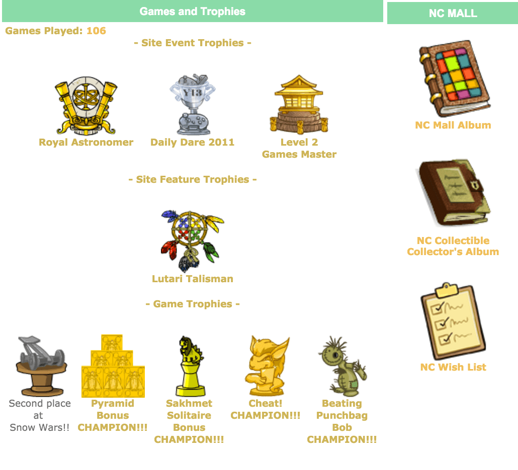 neopets awards