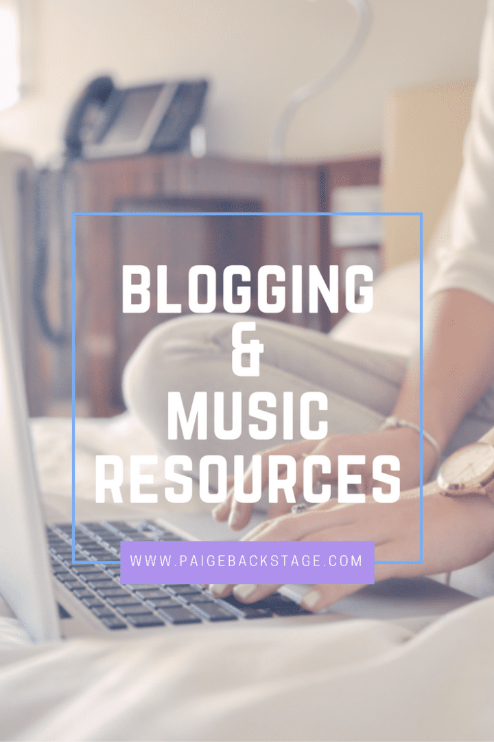 Blogging & Music Resources on PaigeBackstage.com