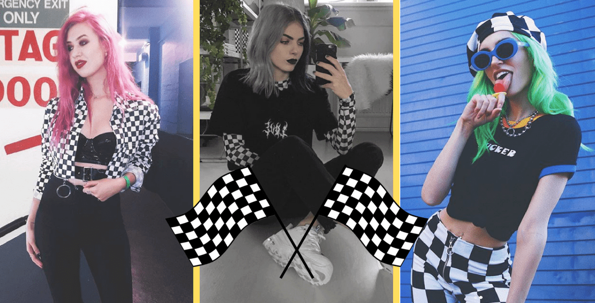 checkerboard fashion